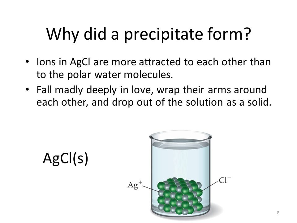 Why did a precipitate form