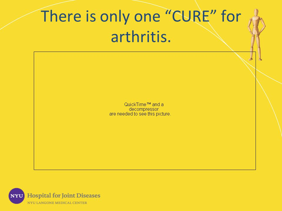 There is only one CURE for arthritis.