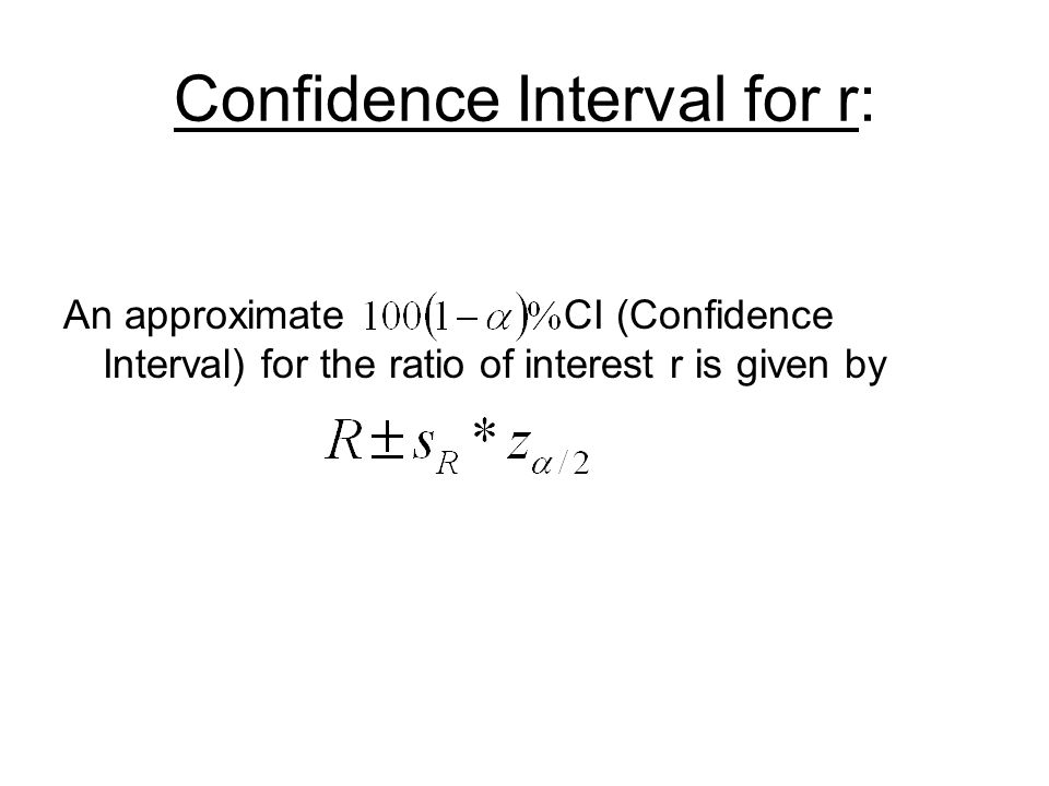 Confidence Interval for r: