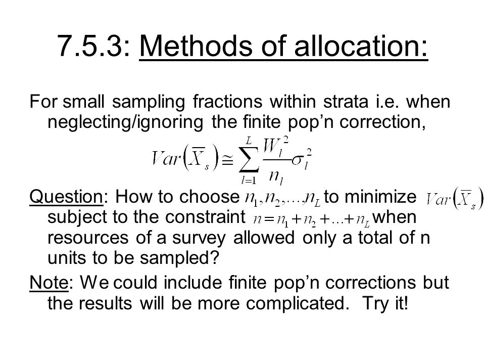 7.5.3: Methods of allocation: