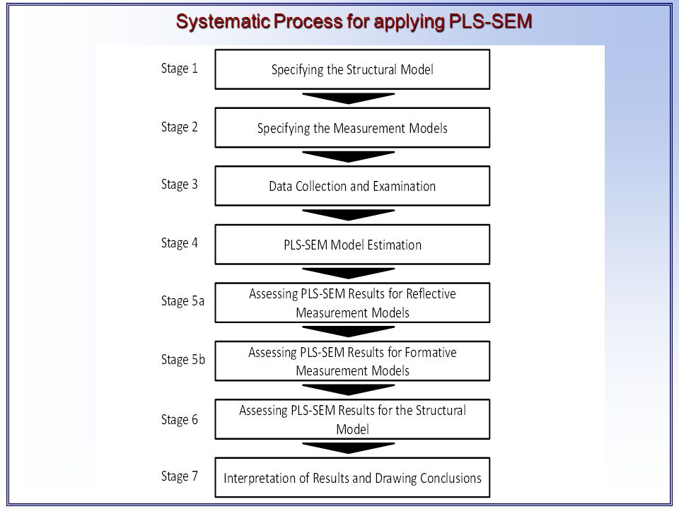 Systematic Process for applying PLS-SEM