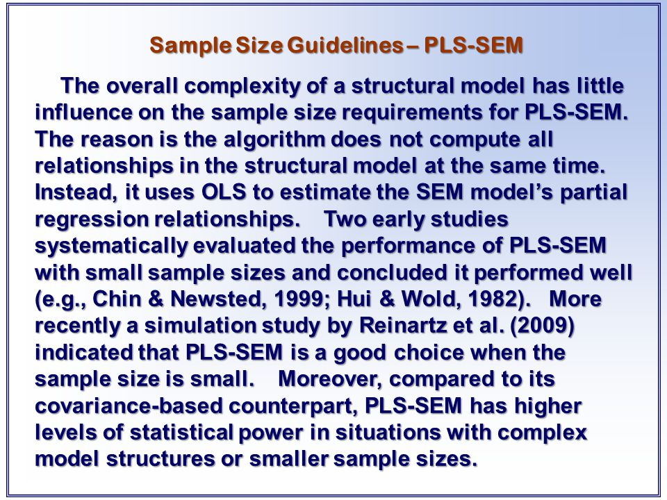 Sample Size Guidelines – PLS-SEM