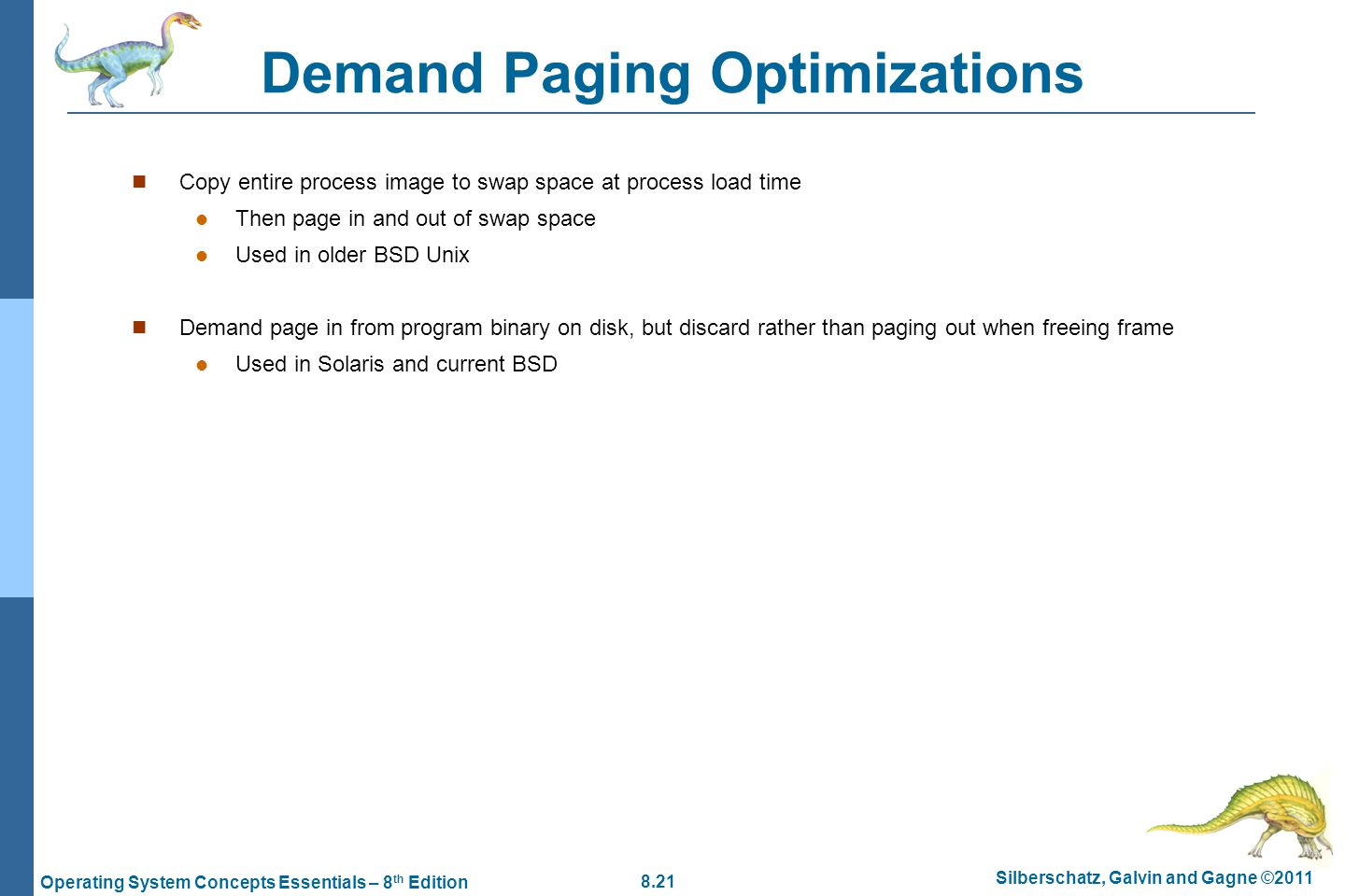 Demand Paging Optimizations