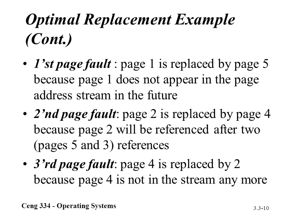 Optimal Replacement Example (Cont.)