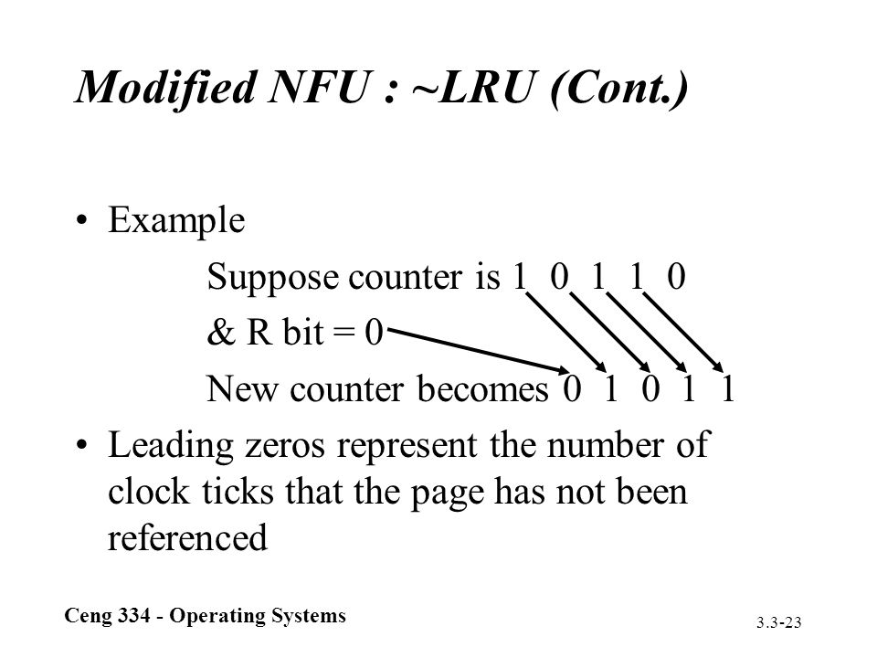Modified NFU : ~LRU (Cont.)