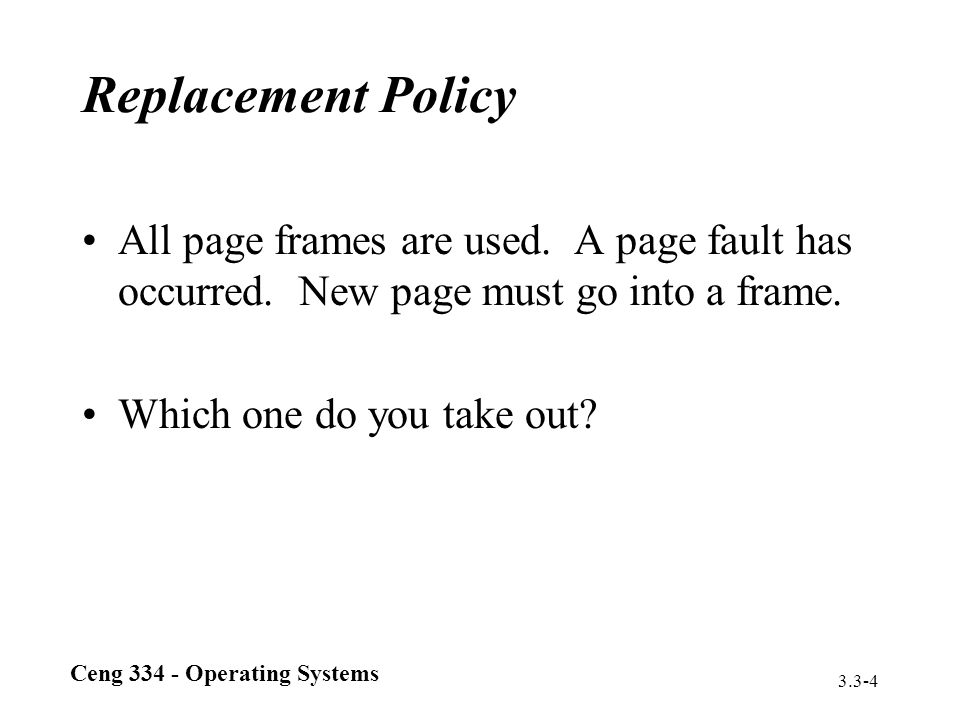 Ceng 334 - Operating Systems