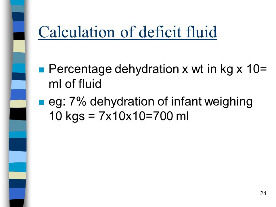 Calculation of deficit fluid