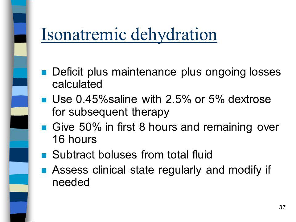 Isonatremic dehydration