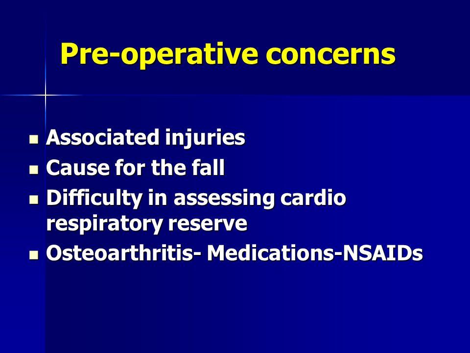 Pre-operative concerns