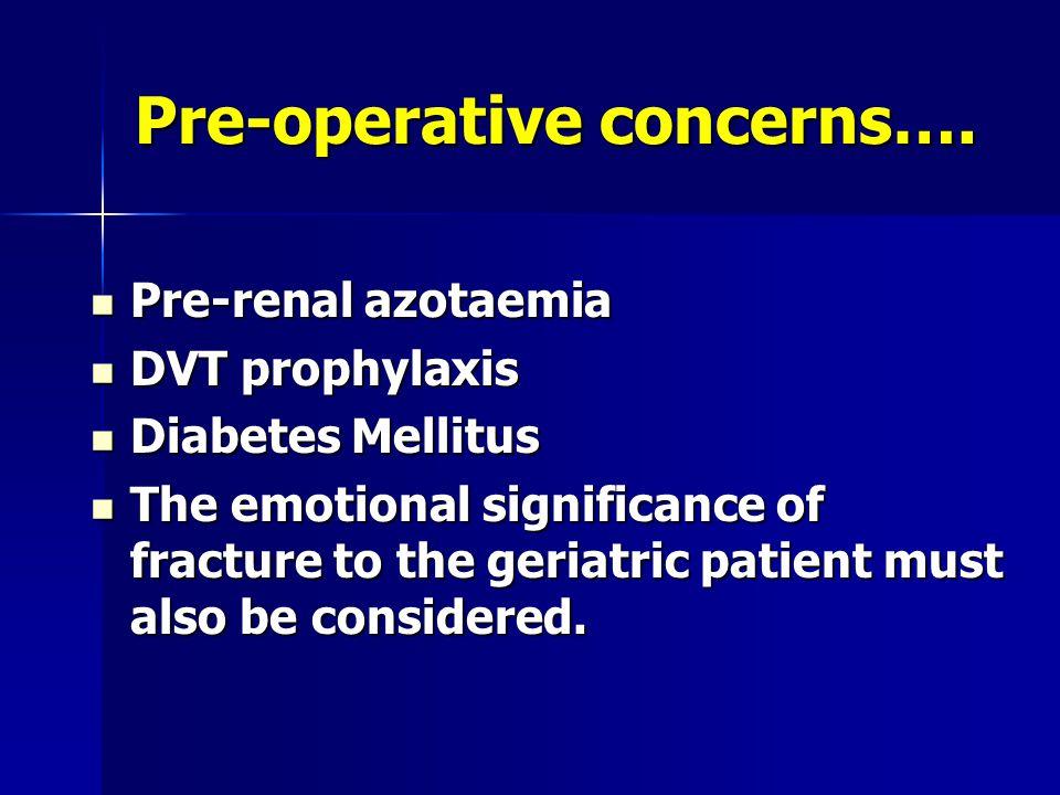 Pre-operative concerns….