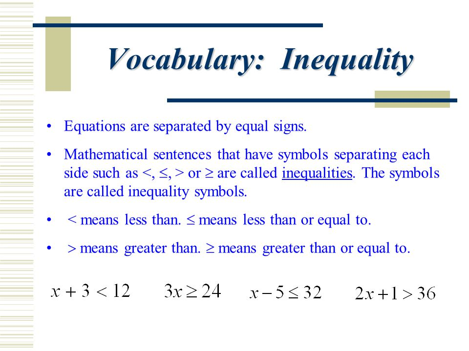 Vocabulary: Inequality
