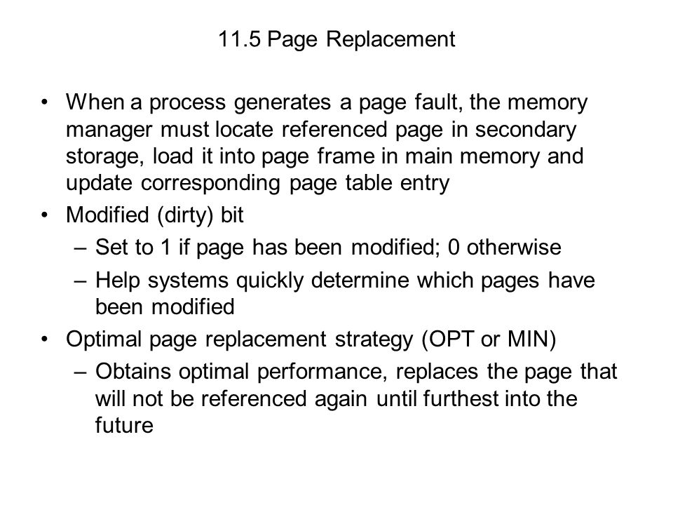 11.5 Page Replacement