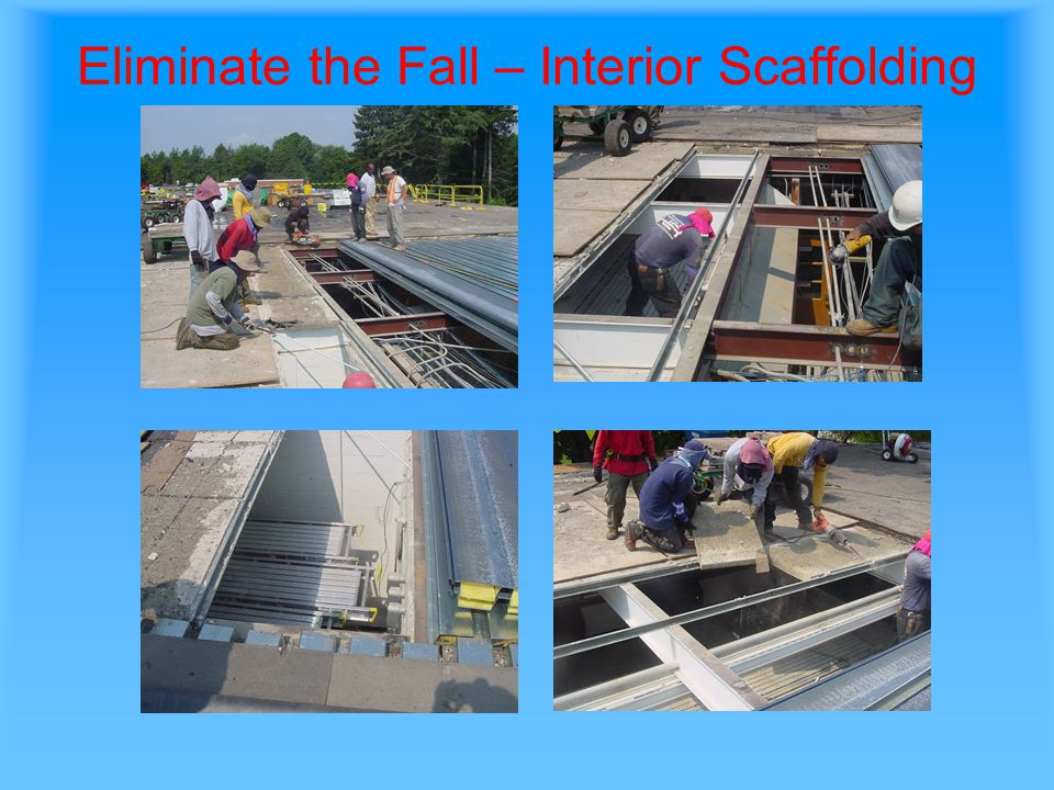 Eliminate the Fall – Interior Scaffolding