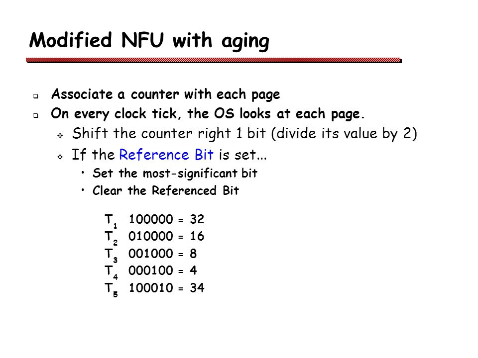Modified NFU with aging