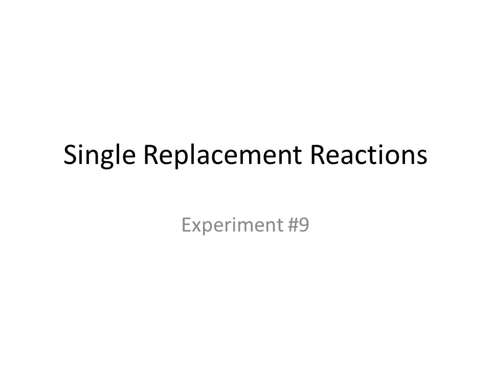 Single Replacement Reactions Ppt Download. Single Replacement Reaction Worksheet Answers ...