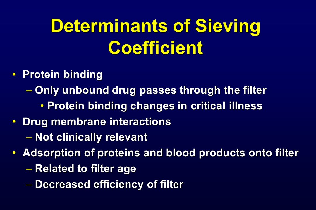 Determinants of Sieving Coefficient