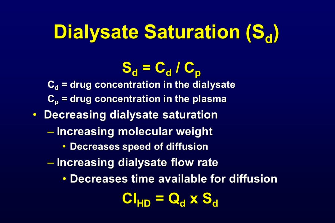 Dialysate Saturation (Sd)