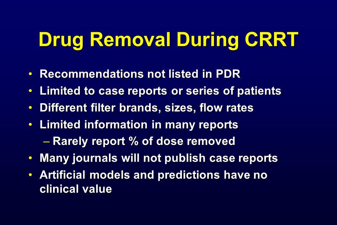 Drug Removal During CRRT