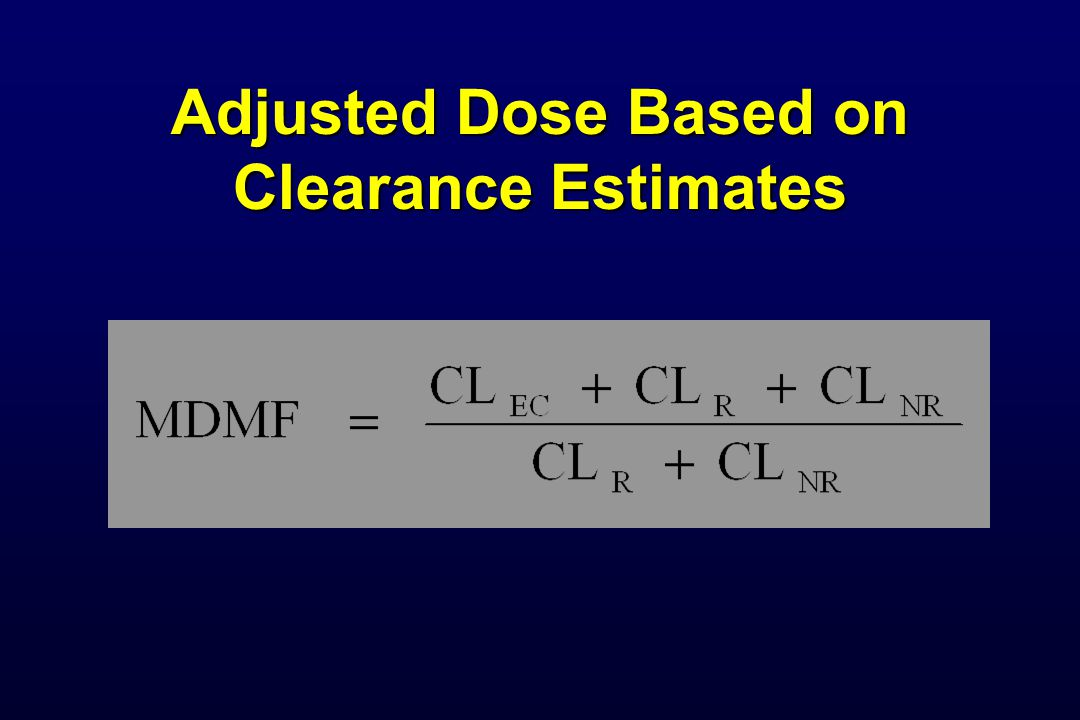 Adjusted Dose Based on Clearance Estimates