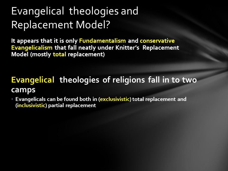 Evangelical theologies and Replacement Model