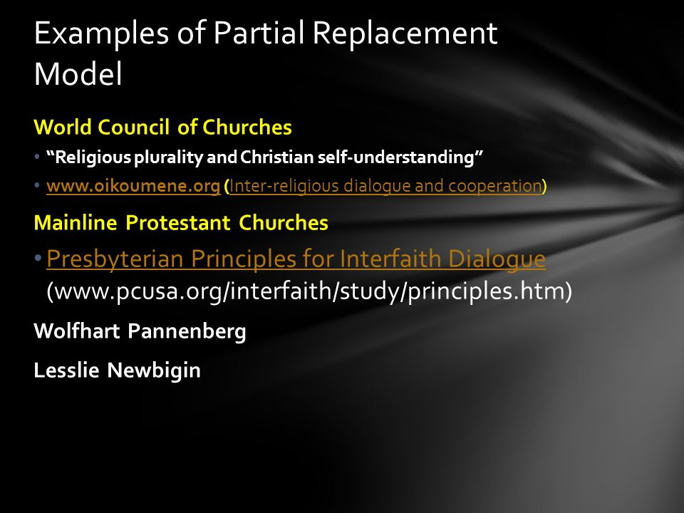 Examples of Partial Replacement Model