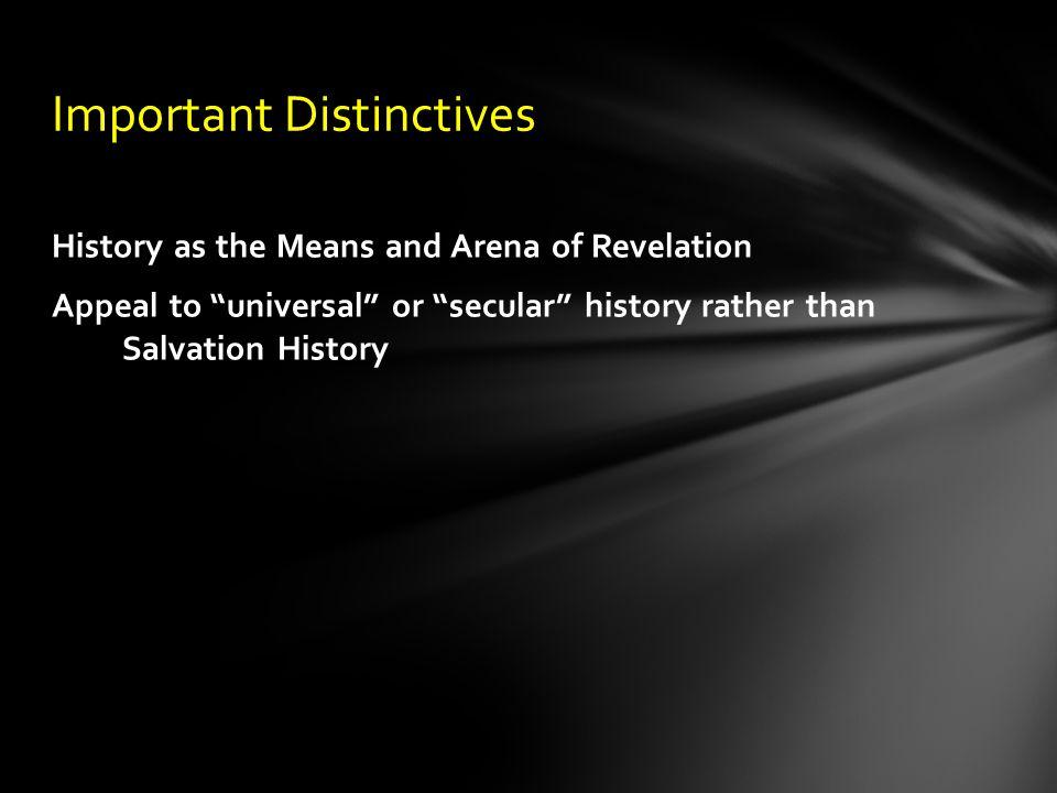 Important Distinctives