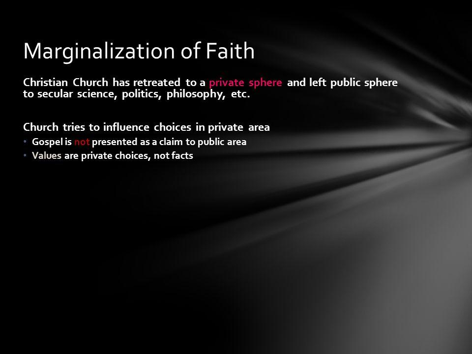 Marginalization of Faith