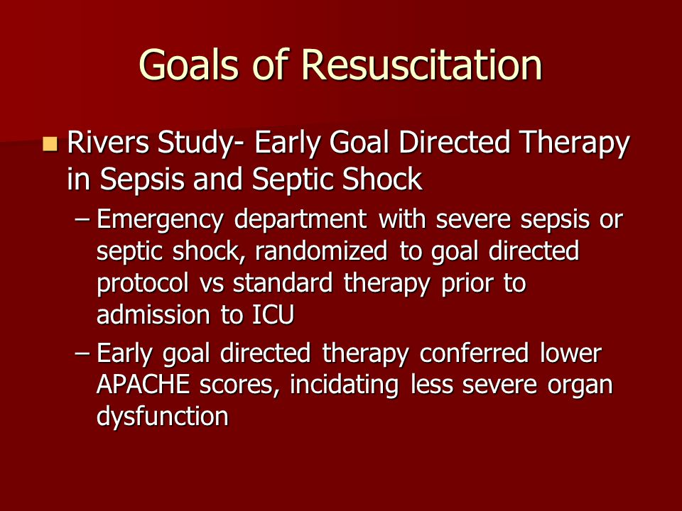 Goals of Resuscitation