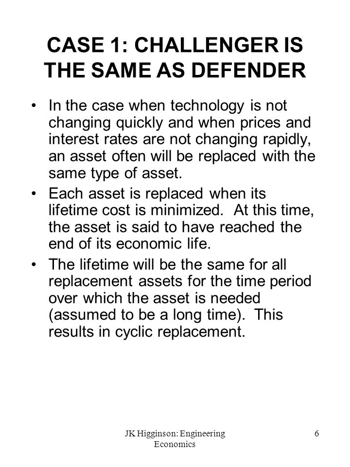 CASE 1: CHALLENGER IS THE SAME AS DEFENDER