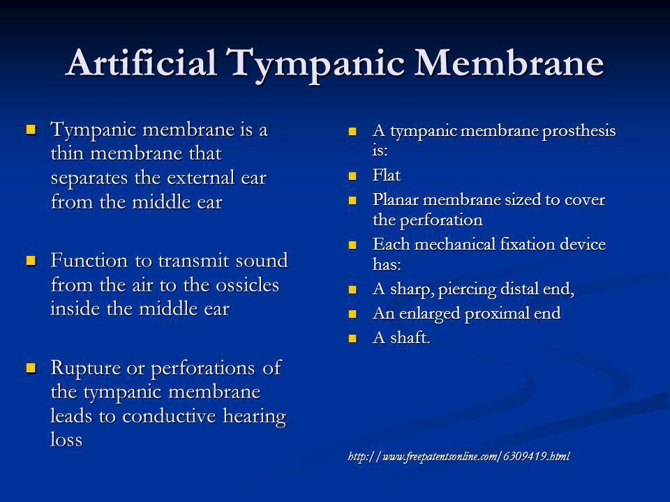 Artificial Tympanic Membrane