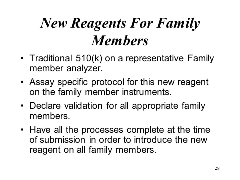 New Reagents For Family Members
