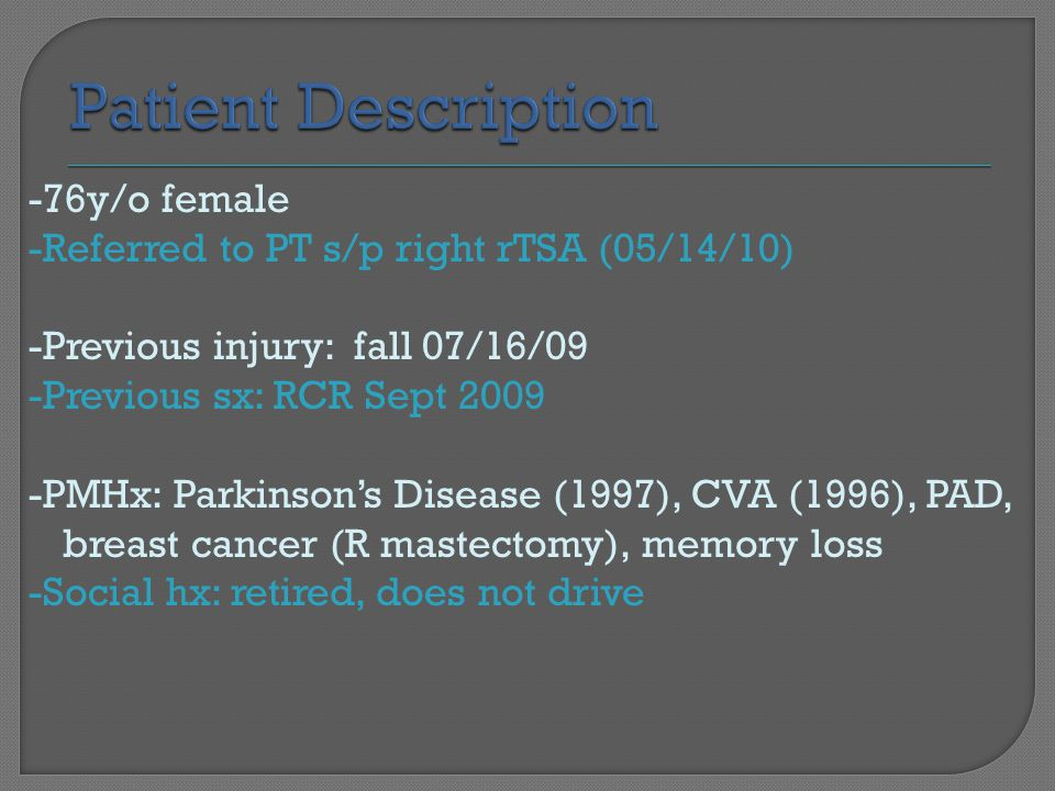 Patient Description