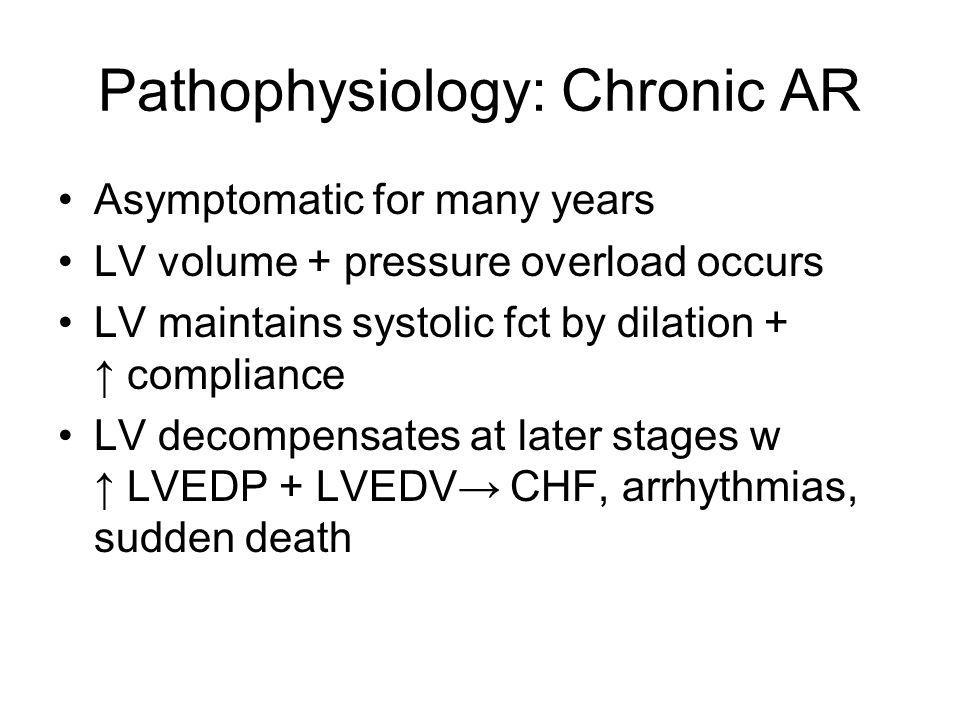 Pathophysiology: Chronic AR