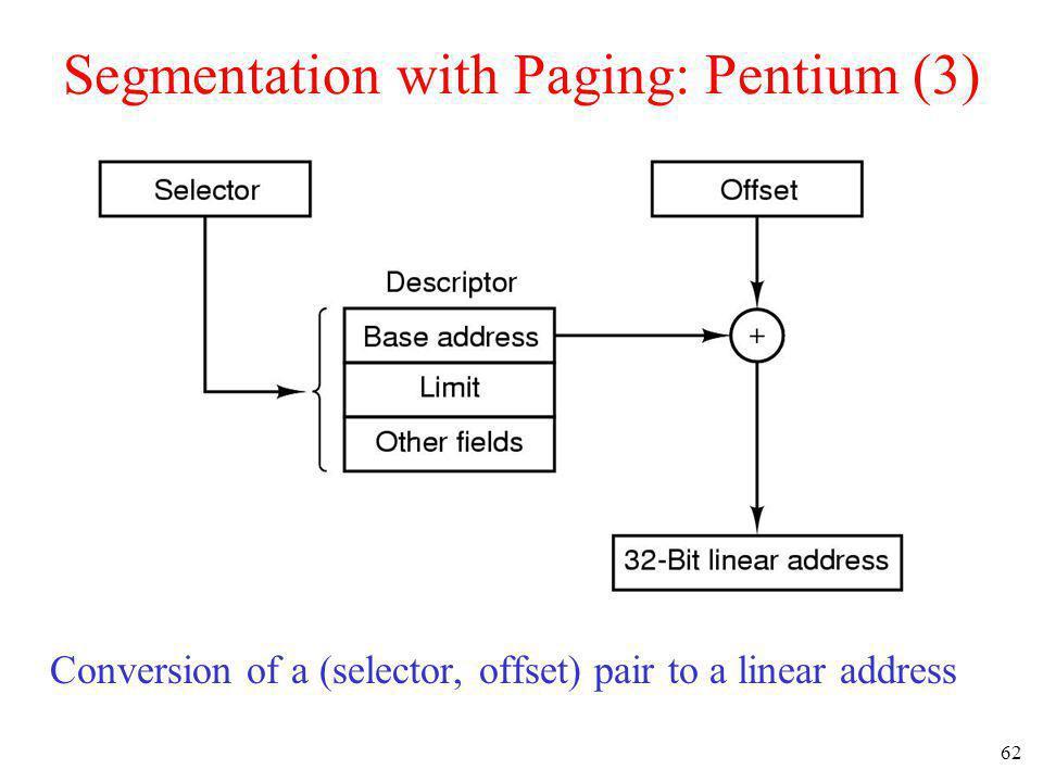 Segmentation with Paging: Pentium (3)