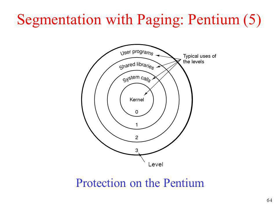 Segmentation with Paging: Pentium (5)