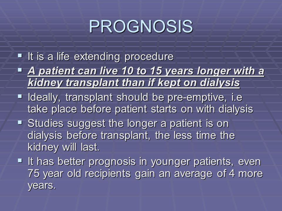 PROGNOSIS It is a life extending procedure