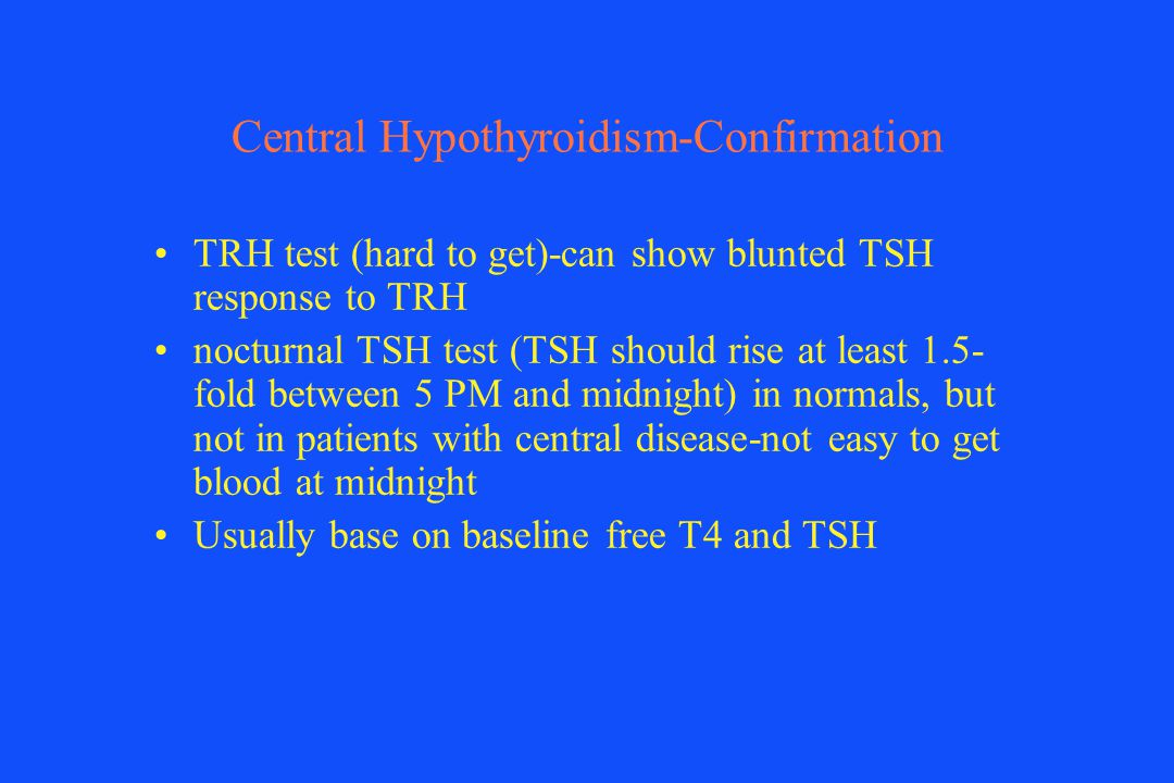 Central Hypothyroidism-Confirmation