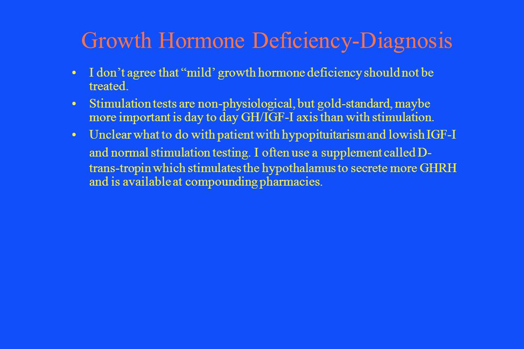 Growth Hormone Deficiency-Diagnosis