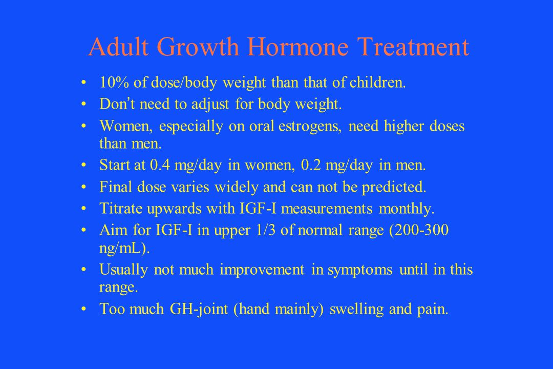 Adult Growth Hormone Treatment