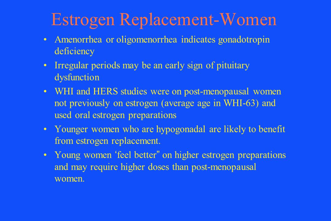 Estrogen Replacement-Women
