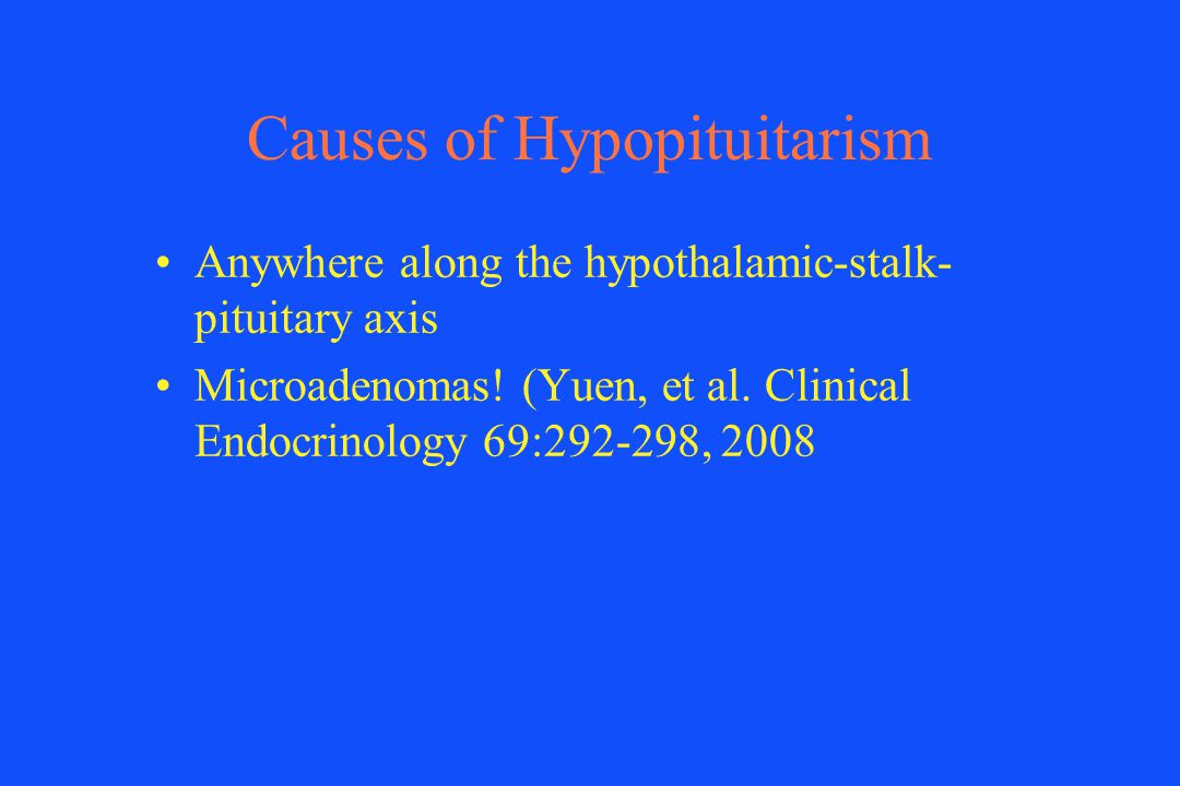 Causes of Hypopituitarism
