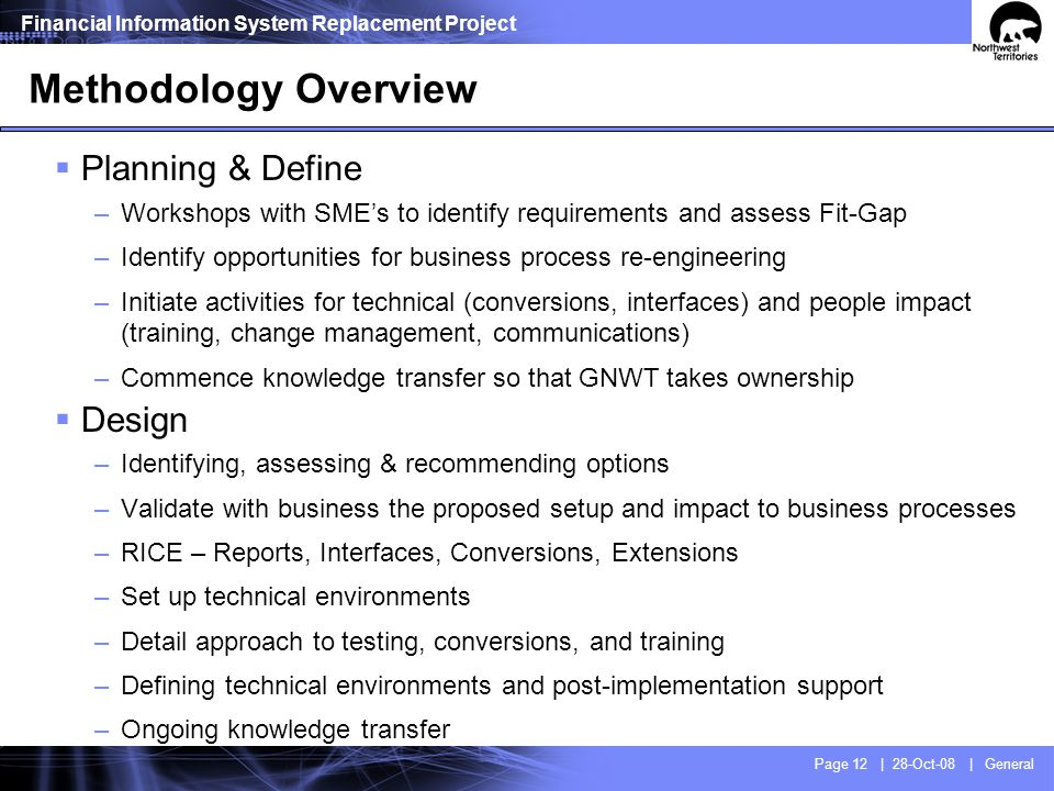 Methodology Overview Build Transition