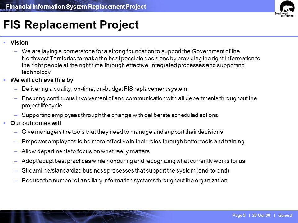 FIS Replacement Project Team