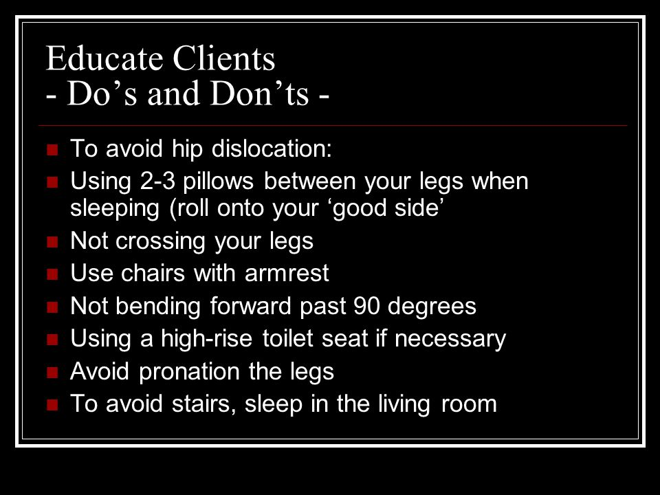 Educate Clients - Do's and Don'ts -