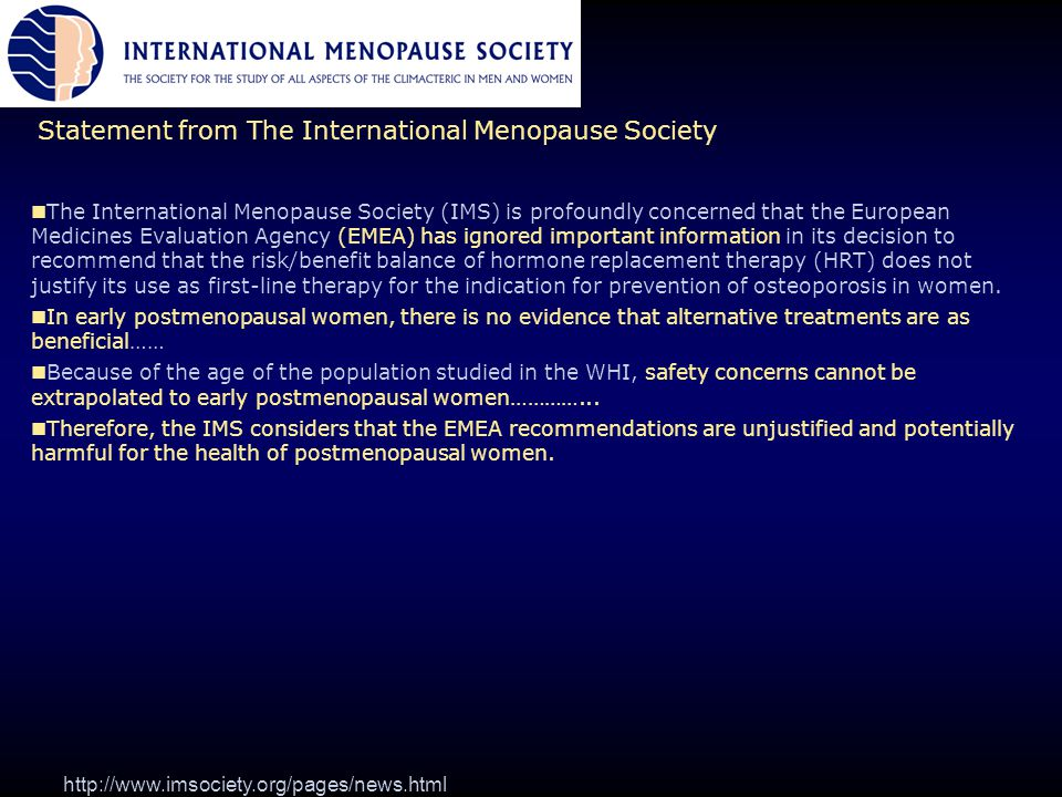 Statement from The International Menopause Society