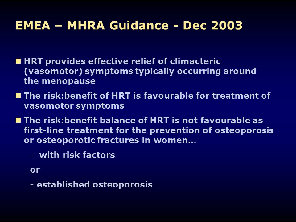 EMEA – MHRA Guidance - Dec 2003