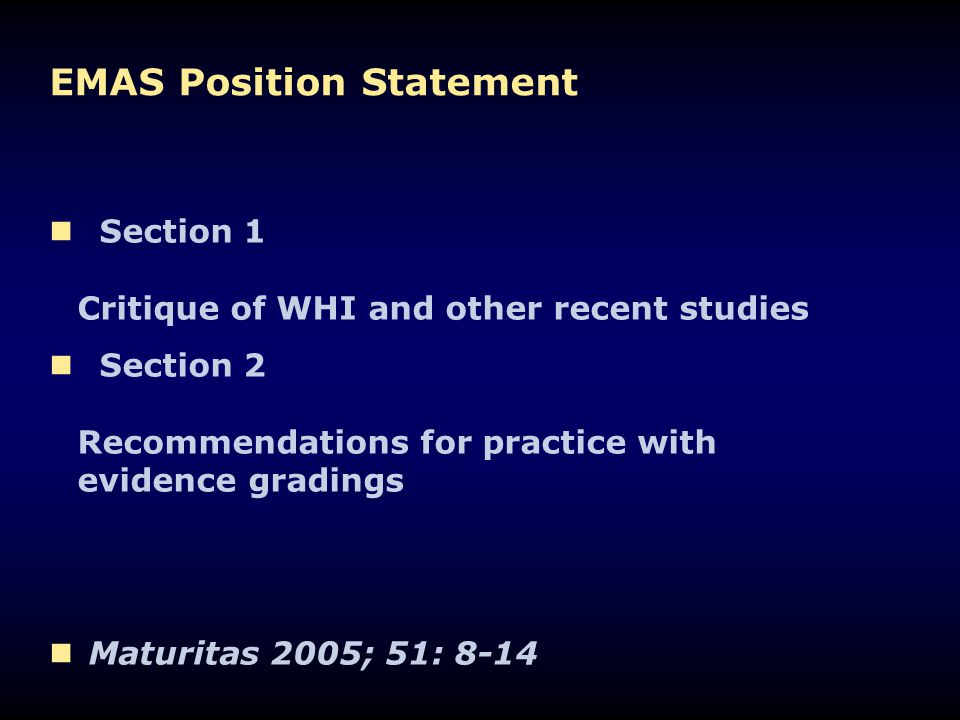 EMAS Position Statement