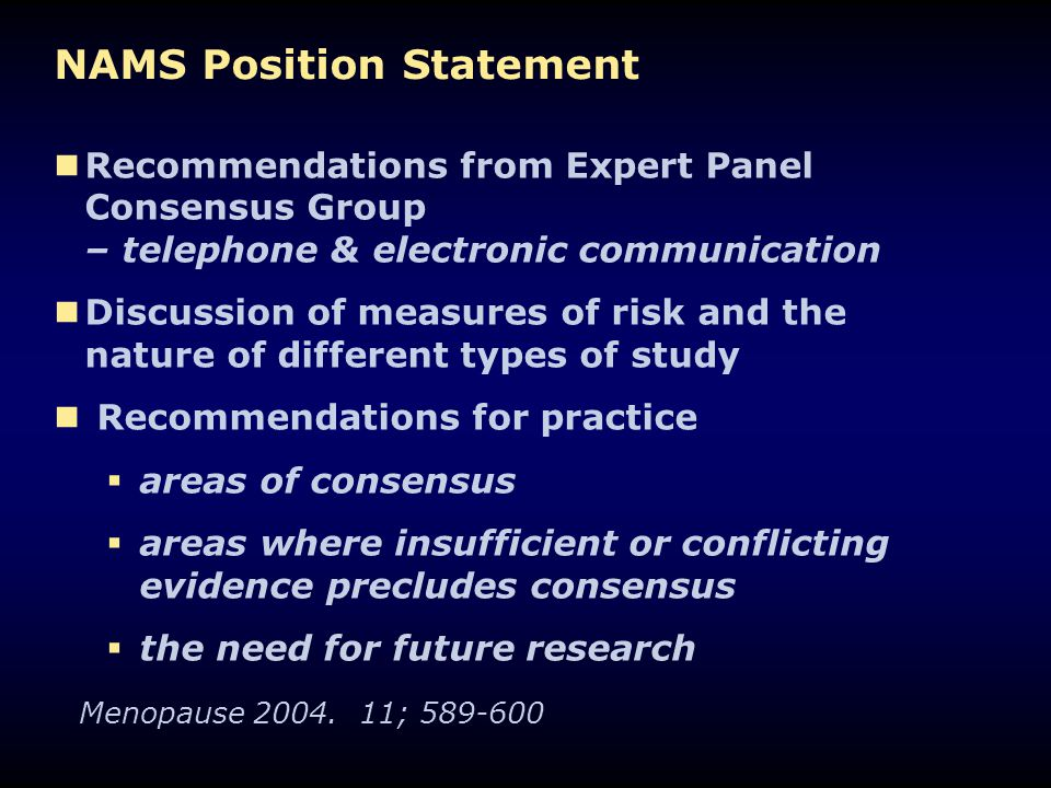 NAMS Position Statement