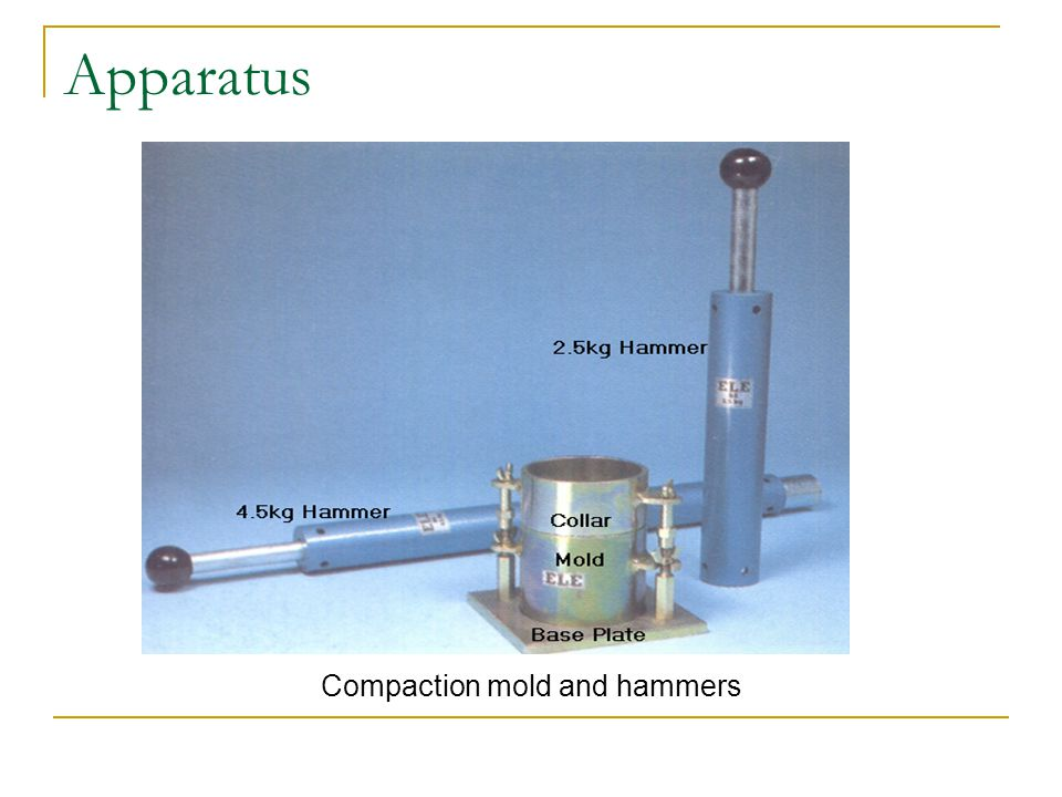 Compaction mold and hammers