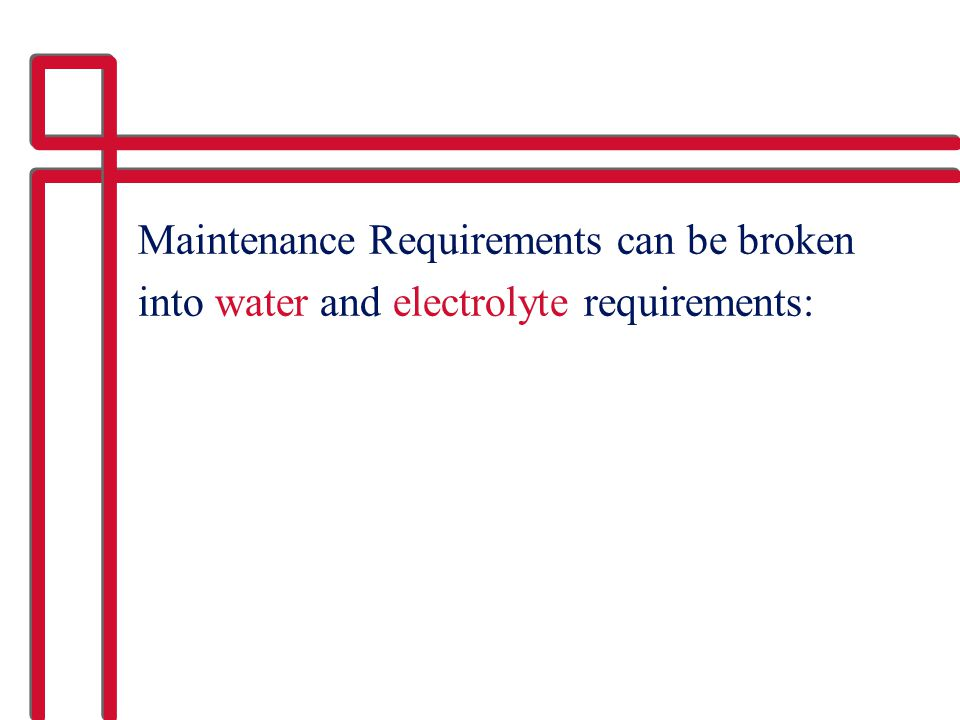 Maintenance Requirements can be broken